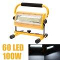 Mayitr 100 W 60 LED portátil recargable Luz de inundación Punto de emergencia al aire libre Camping reflector