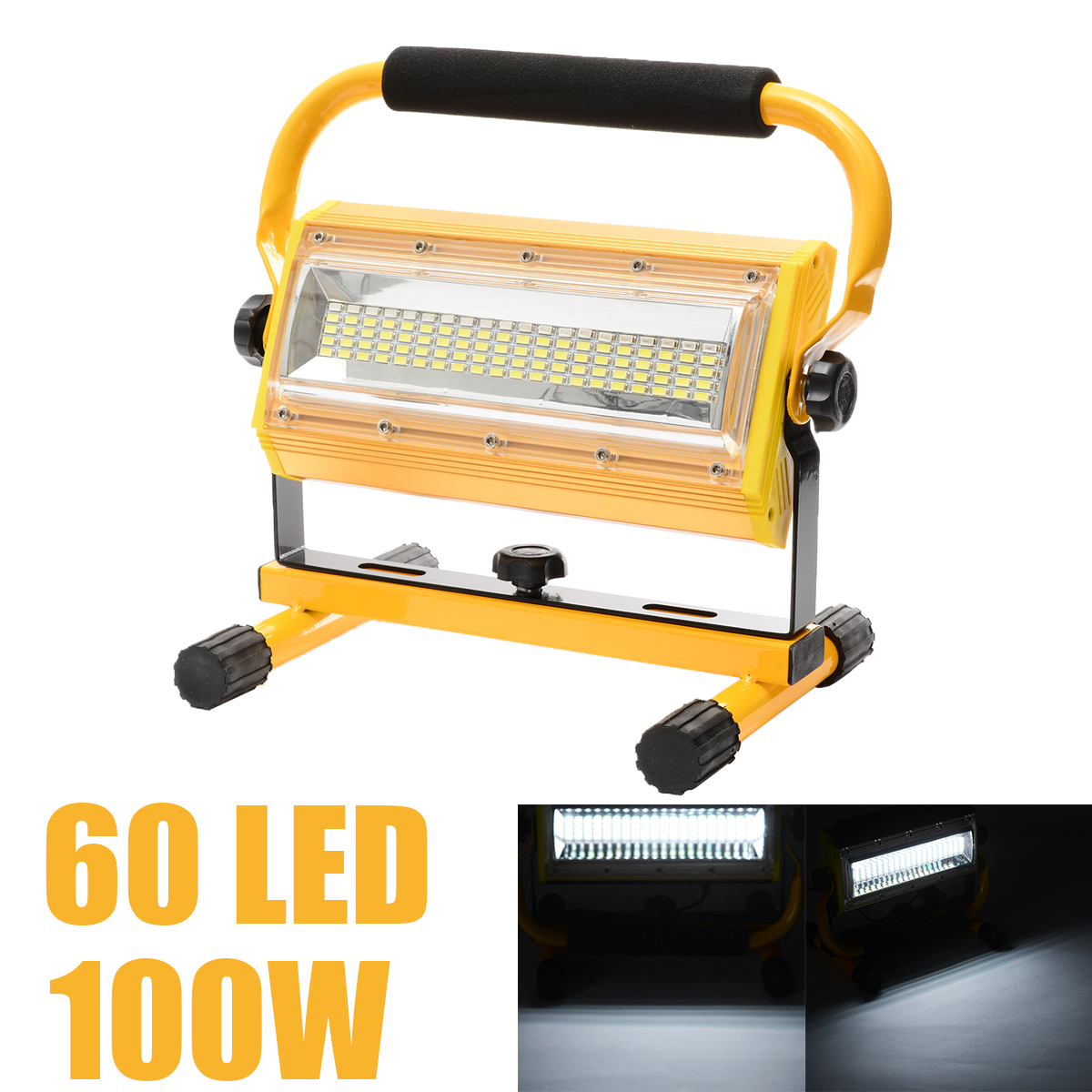 Stalwart Large 60 Led Rechargeable Work Light: Mayitr 100W 60 LED Portable Rechargeable Work Flood Light