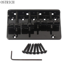 New Popular Ostrich Black Metal 4 String Vintage Bass Bridge For Electric Bass Guitar