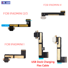 USB Dock Charger Port For iPad mini 1 2 3 4 Charging Connector Flex Cable Ribbon Replacement Parts  A1599 A1538 Black or White netcosy black white for ipad 3
