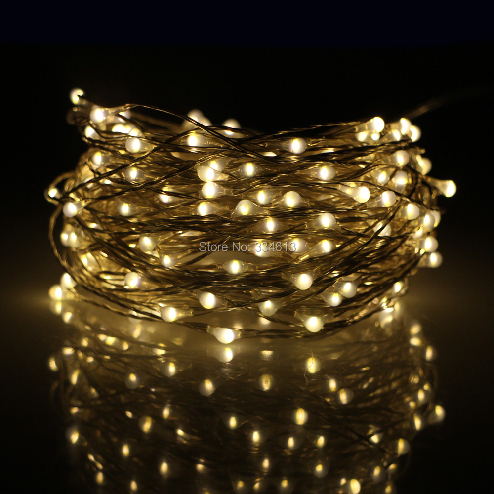 10M 100LED / 20M 200LED Waterproof USB Fairy String Lights Silver Wire Warm White Christmas Holiday Indoor Party Starry Lights