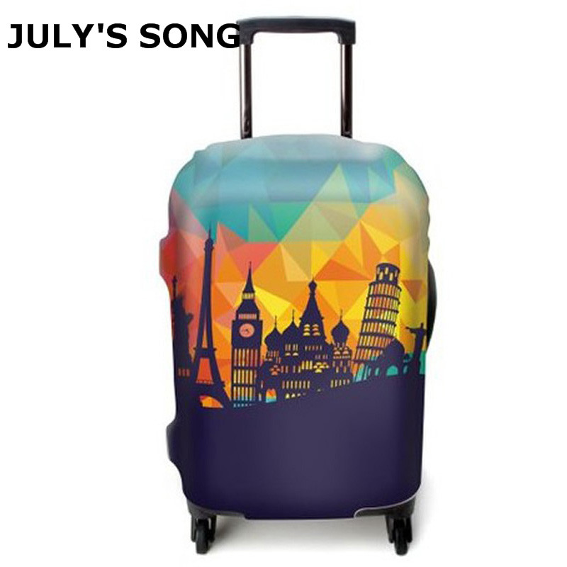 JULY'S SONG Travel Luggage Suitcase Protective Cover, Stretch, made for S/M/L/XL, Apply to 18-32inch Cases, Travel Accessories