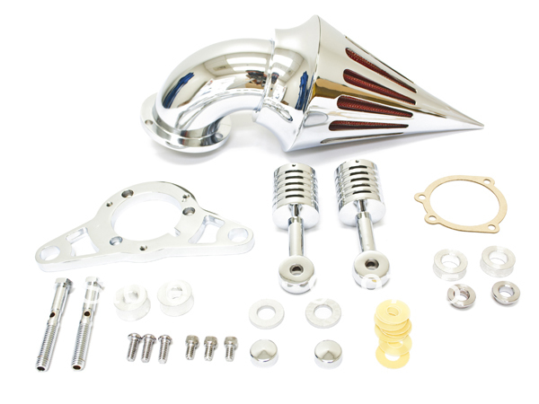 Chrome Motorcycle Spike Air Cleaner Intake Filter For Harley Softail Road King Fat Boy Ultra Classic inj Rocker Custom Standard chrome spike air cleaner kit intake filter for 1998