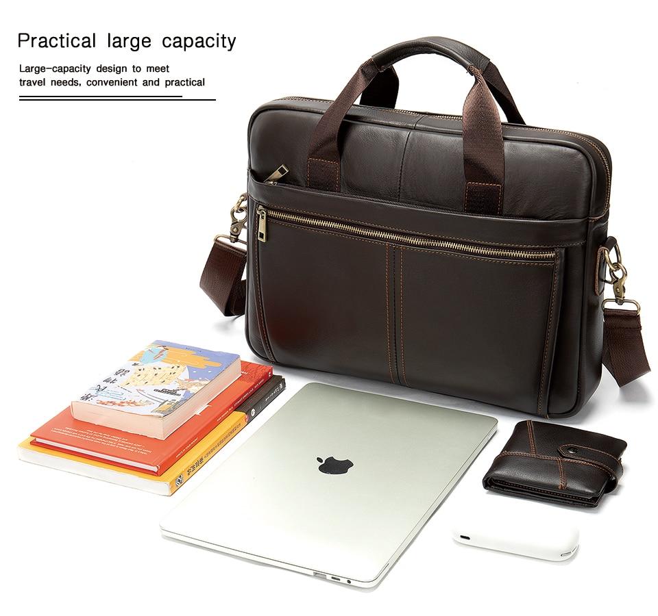 HTB1rJNKV9zqK1RjSZFjq6zlCFXaE WESTAL Men's Briefcase Men's Bag Genuine Leather Laptop Bag Leather Computer/Office Bags for Men Document Briefcases Totes Bags