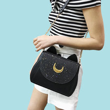 Gaqiuma sailor small moon flap shoulder PU small cate crossbody Handbag Women Messenger bag(China)