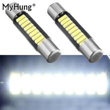 Reading Light White 29mm 4014 Fuse Style 9SMD LED Replace Bulb Auto Vanity Mirror Lights 12V DC Sun Visor Lamps For Cars 2pcs