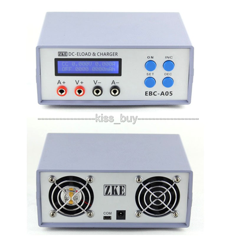 ФОТО EBC-A05 Battery Capacity Gauge Power Bank Tester DC Electronic Load & Charge and discharge cycle charging Test