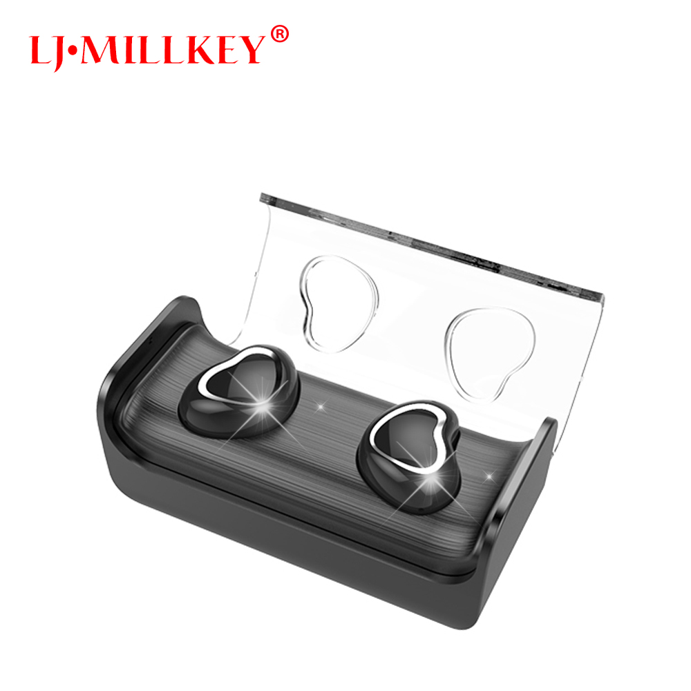 Ture Wireless Stereo TWS Mini Bluetooth headset Stereo Earphone built-in Mic Wireless Recharge Earbud with power bank YZ147 vodool bluetooth earphone earbud mini wireless bluetooth4 1 headset in ear earphone earbud for iphone android smartphone