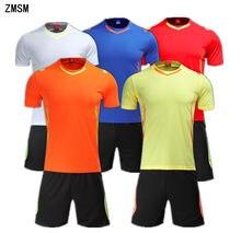 ZMSM 2018 Adult Short Soccer Jerseys Set custom Football Uniforms Training  suit Breathable Mens Football Shirt b4c62829f
