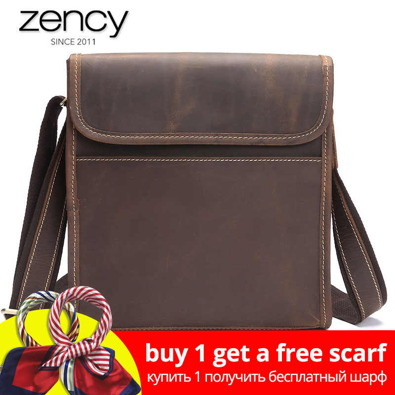 08091dacc1e 2019 New Arrival Men's Genuine Leather Shoulder Bags High Quality Men  Vintage Ipad Holder Ruksacks Design