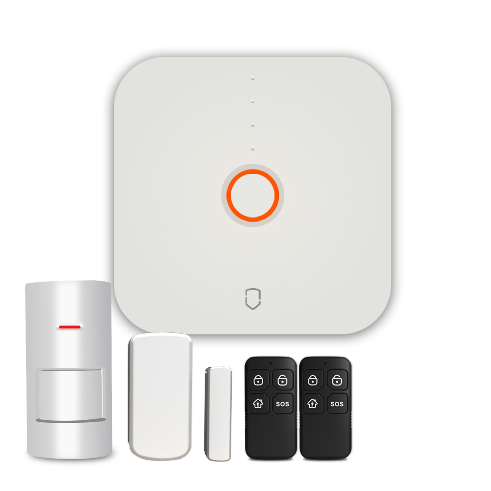 Secustone Hot Cheapest Smart 2.4G Wifi Home Security Alarm System Door Sensor PIR Motion Detector Keyfobs 433MHZSecustone Hot Cheapest Smart 2.4G Wifi Home Security Alarm System Door Sensor PIR Motion Detector Keyfobs 433MHZ