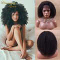 Short Afro Kinky Curly Lace Wigs Malaysian Virgin Hair Afro Kinky Lace Front Human Hair Wig Glueless Kinky Curly Full Lace Wig