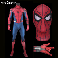 Hero Catcher 6 Top Quality Newest Homecoming Spider Man Suit With Shooter Tom Spiderman Cosplay Costume With 3D Details