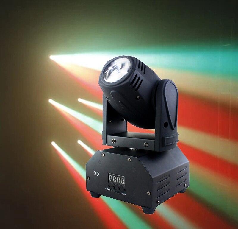 Işıklar ve Aydınlatma'ten Sahne Aydınlatması Efekti'de 10 w Cree LED RGBW Işın Hareketli Kafa Işık mini led DMX ışın ışık DJ Disko Parti Sahne Aydınlatma Hareketli kafa Ekipmanları title=