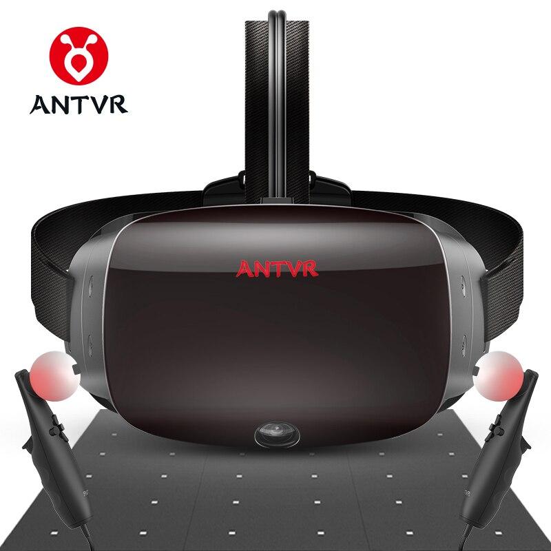 ANTVR VR casque 2 K réalité virtuelle 3D lunettes pour PC Compatible avec Steam VR Cyclop 5.5 double OLED casque lunettes pc virtuel