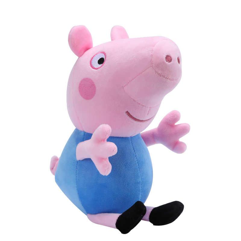 Натуральная Пеппа свинка Джордж» 19/30/46 см Kawaii Плюшевые Животные Постельные принадлежности для сна подушка чехол на день рождения Детские Рождественские игрушки подарок для девочек