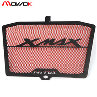 Motorbike Stainless Steel Radiator Grill Guard Cover grille For YAMAHA XMAX 250 300 400 logo xmax