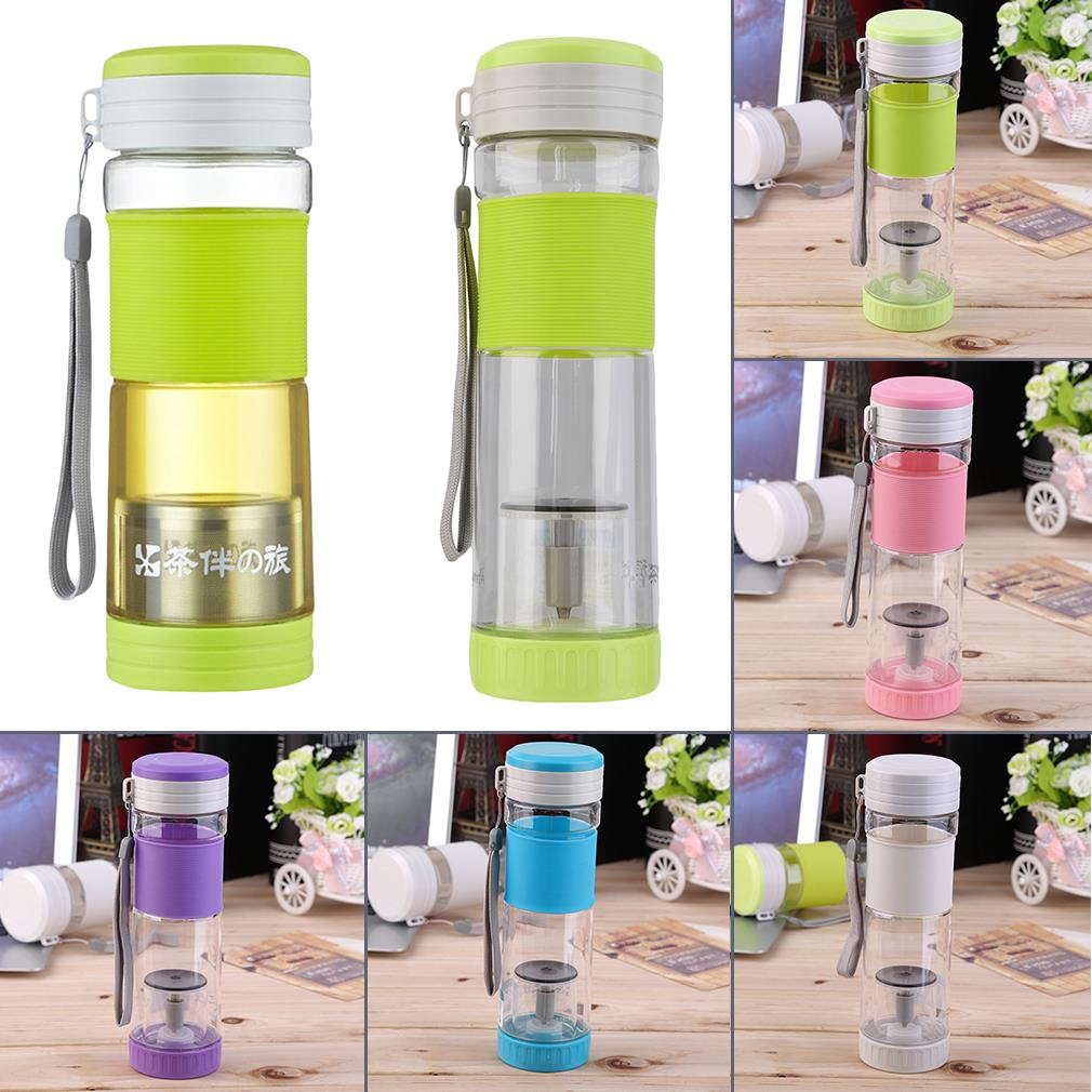 OUTAD 550ml Travel Portable Sport Travel Water Bottle Travel With Filter Strainer Tea Seal Bottles Home Healthy Drinkware