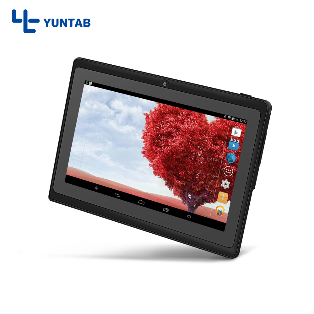 Yuntab Q88 7 inch Android Allwinner A33 Quad Core 512MB Add 8GB, Dual Camera, External 3G Tablet PC free shipping стоимость