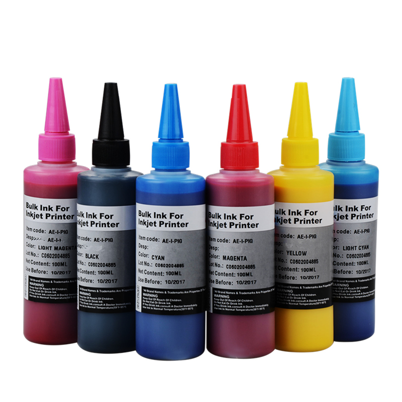 Specialized Textile Pigment INK for For Epson R230 T50 R270 1390 100ml per bottle can printing