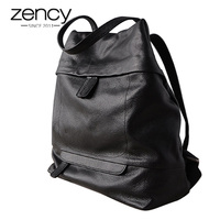 2018 Women Leather Backpack Lady Minimalist Fashion Genuine Leather Schoolbag High Capacity Bags For Female Black