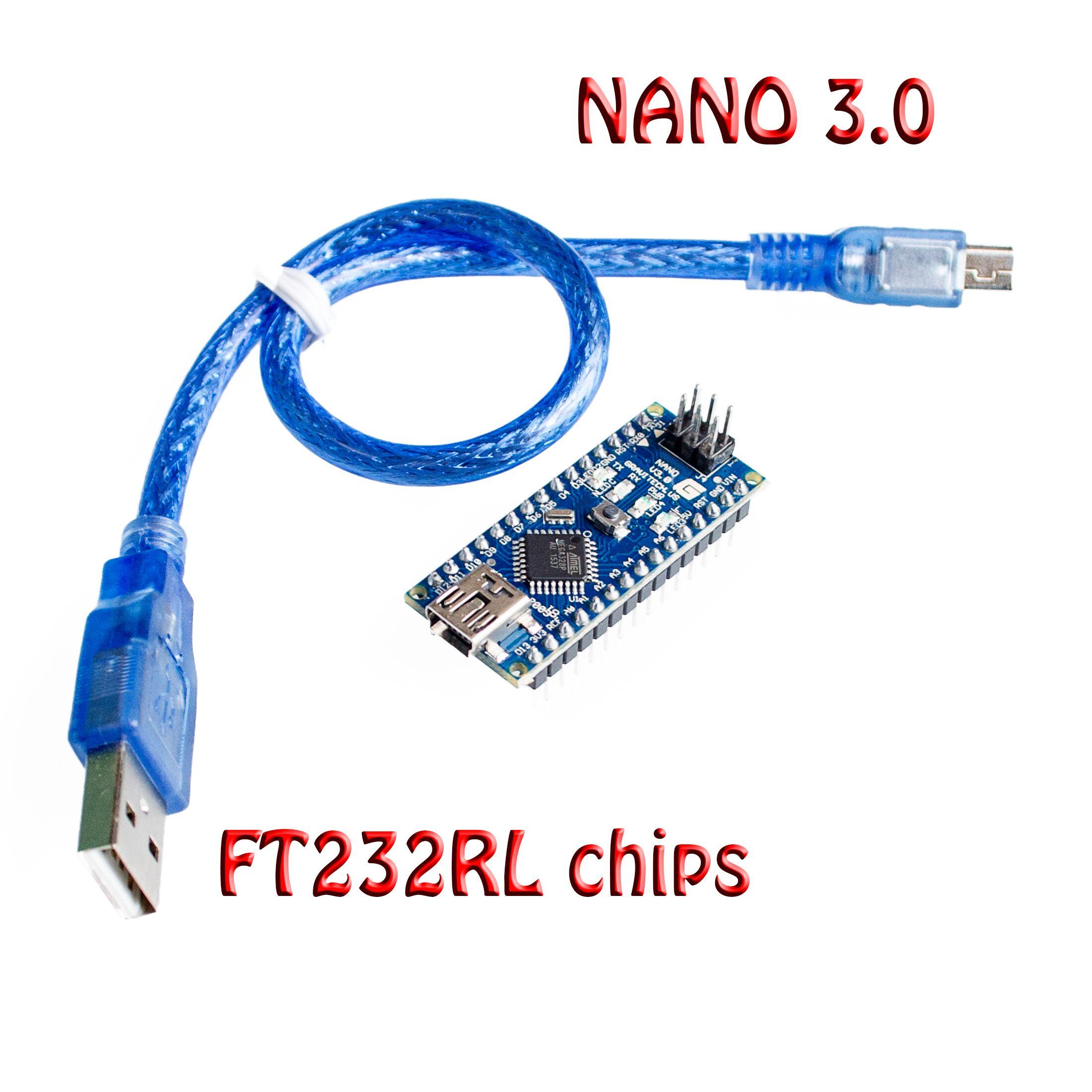 10set lot Original Nano 3 0 atmega328 mini version FT232RL imported chips support win7 Win8 for
