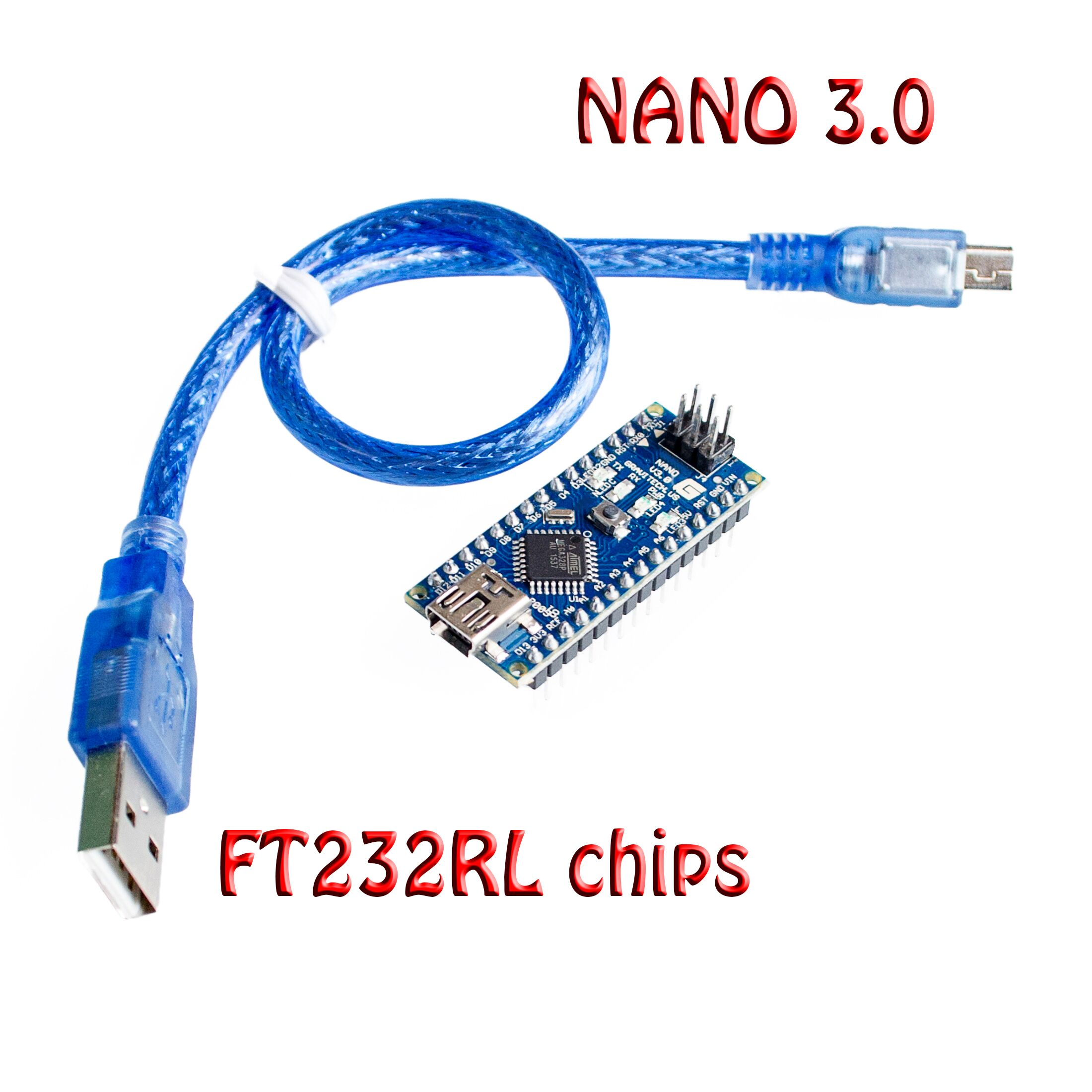 10set/lot Original Nano 3.0 atmega328 mini version <font><b>FT232RL</b></font> imported <font><b>chips</b></font> support win7 Win8 for arduino with USB cable image
