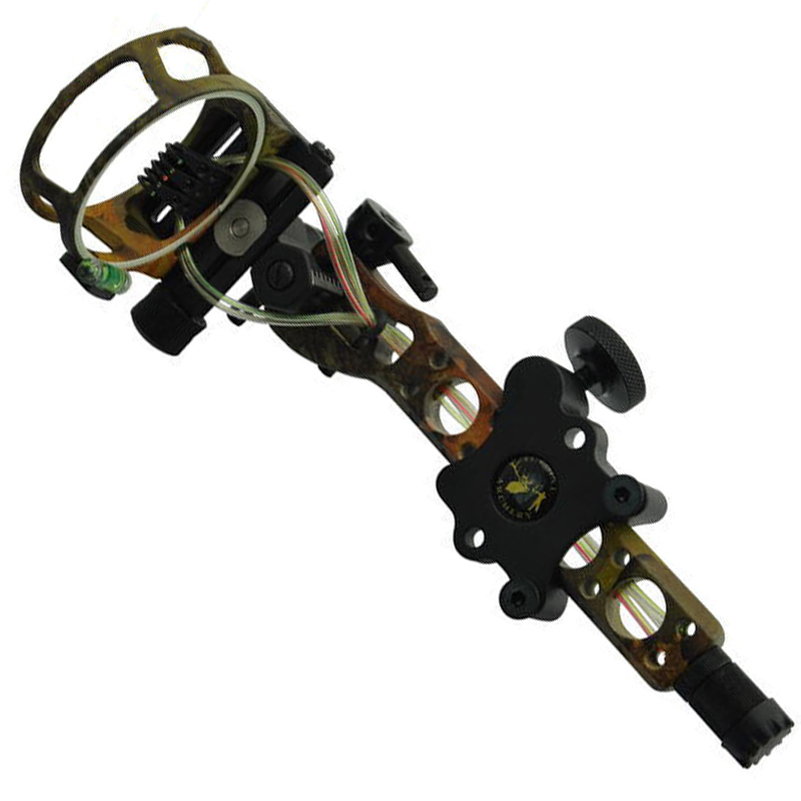Topoint 5 pins .019 Bow Sight with Micro Adjust Detachable Bracket, Sight Light for Both Right /Left Hand Compound Bow Archery цена и фото