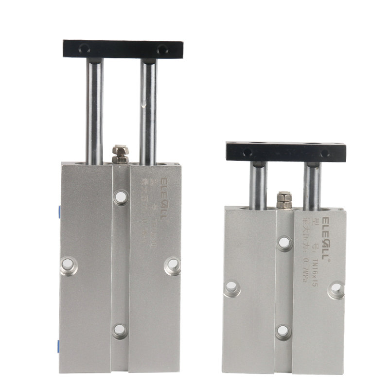 TN16*10 / 16mm Bore 10mm Stroke Compact Double Acting Pneumatic Air Cylinder high quality double acting pneumatic gripper mhy2 25d smc type 180 degree angular style air cylinder aluminium clamps