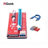 Latest Version Ver 007S Board PCI E PCI E Express 1X To 16X Riser Card USB