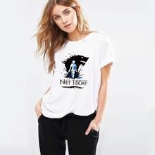 NOT TODAY Arya Stark Game Of Thrones Tshirt Faceless women T shirt summer new Worsted Modal hip hop Print Tees Women Shirt Tops футболка print bar faceless void