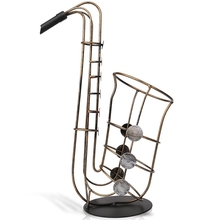 TOP!-Metal Saxophone Rack Creative Home Decoration Wrought Iron Wine Cabinet Crafts Statue Accessories