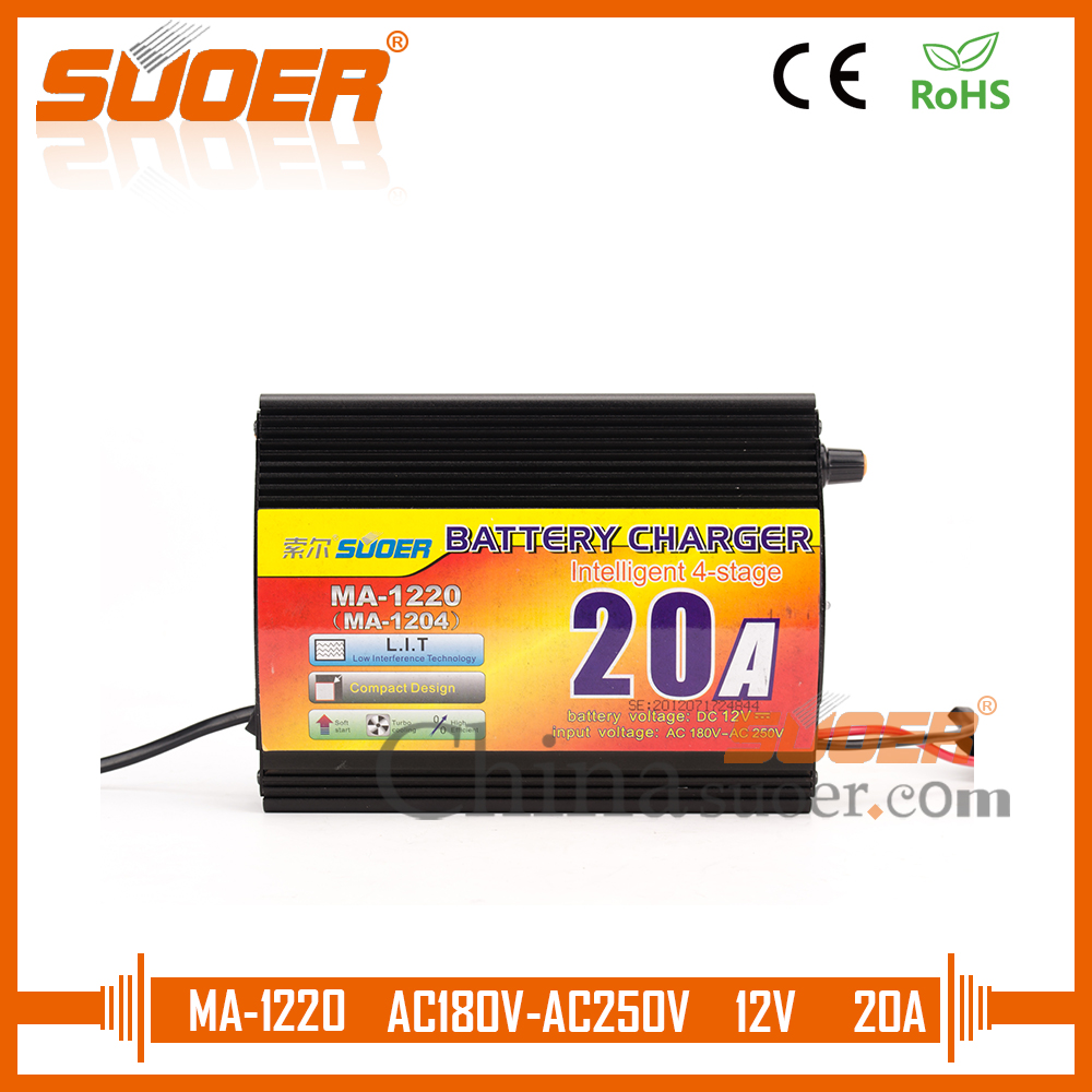 Suoer Best Price Universal Battery Charger 20a 12v Car Battery