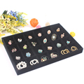 High Quality Black Velvet 24 Grids Removable Ring Case Bracelet Watch Jewelry Display Tray Showcase Jade Storage Display