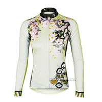 Bike Bicycle Women Autumn Winter Waterproof Long Sleeve Floral Print Cycling Sportwear Clothes Jersey Ciclismo Bicicleta