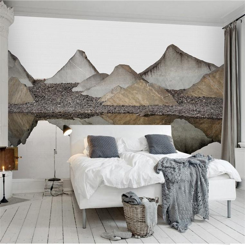 custom 3d modern high quality wallpaper living room bedroom background wall mural nordic chinese landscape scenery wallpaper  free shipping basketball function restaurant background wall waterproof high quality stereo bedroom living room mural wallpaper
