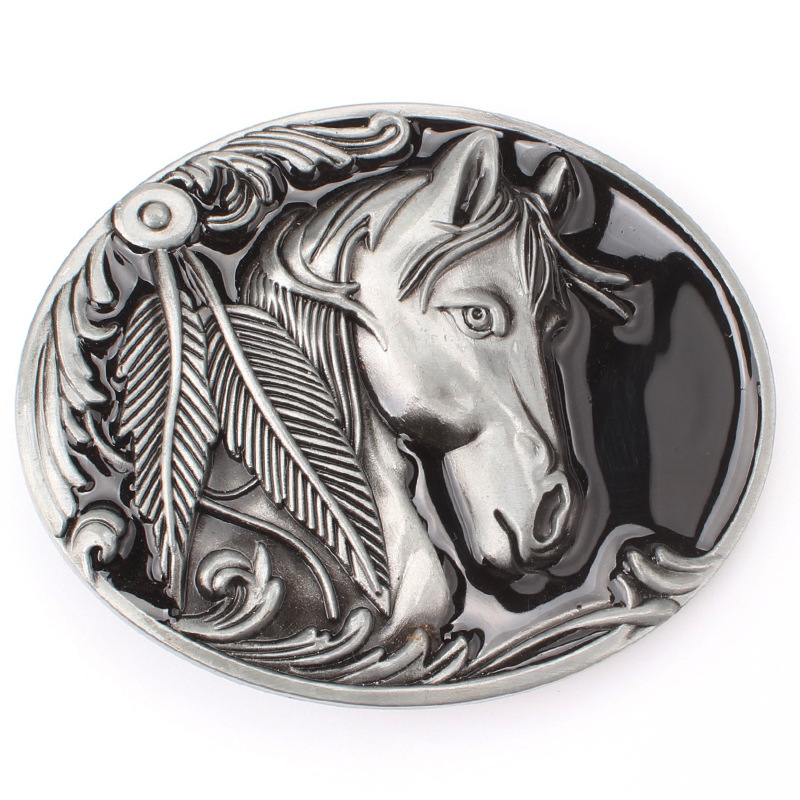 European And American Style Horse Head Personality Cowboy Buckle