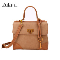 New Retro Matte Women Messenger Bag Rivet Lock Internal Compartment Shell Handbag Shopping Appointments Universal Shoulder