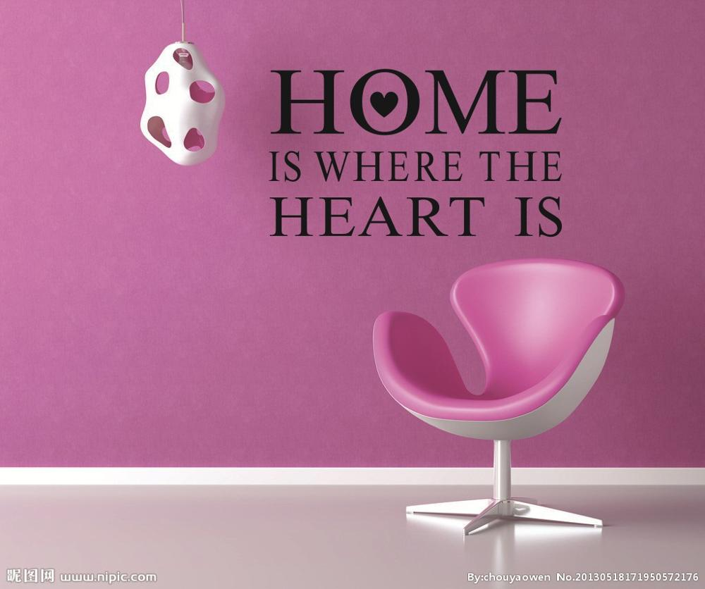 HOME IS WHERE English Text Pattern Wall Stickers Living Room Bedroom  Marriage Room TV Sofa Background Stickers In Wall Stickers From Home U0026  Garden On ... Part 90