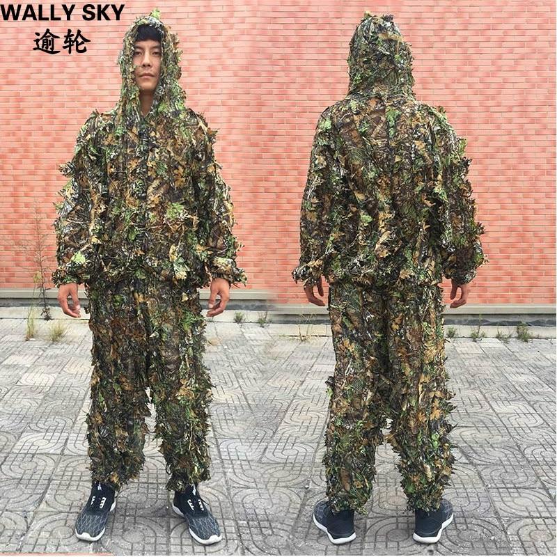 NEW CS 3D Leaf Yowie снайперы Ghillie Suit Джунгли - Спорттық киім мен керек-жарақтар - фото 1