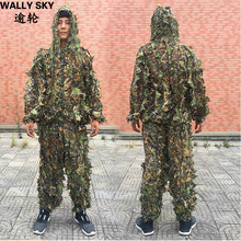 NY CS 3D Leaf Yowie Sniper Ghillie Suit Jungle Camouflage Jaktkläder Gratis frakt