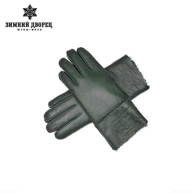 fef3b398db7208 Kopen Goedkoop Lederen handschoenen vrouwen schapenvacht bont Warm winter  2016 handschoenen manual brand fashion wanten vrouwen winter wanten vrouwen  ...