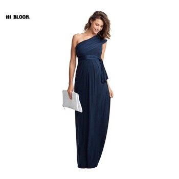 طويلة الأمومة ماكسي فساتين ملابس حمل أنيقة مساء اللباس للنساء الحوامل الحمل ثوب مكتب سيدة حزب Vestidos