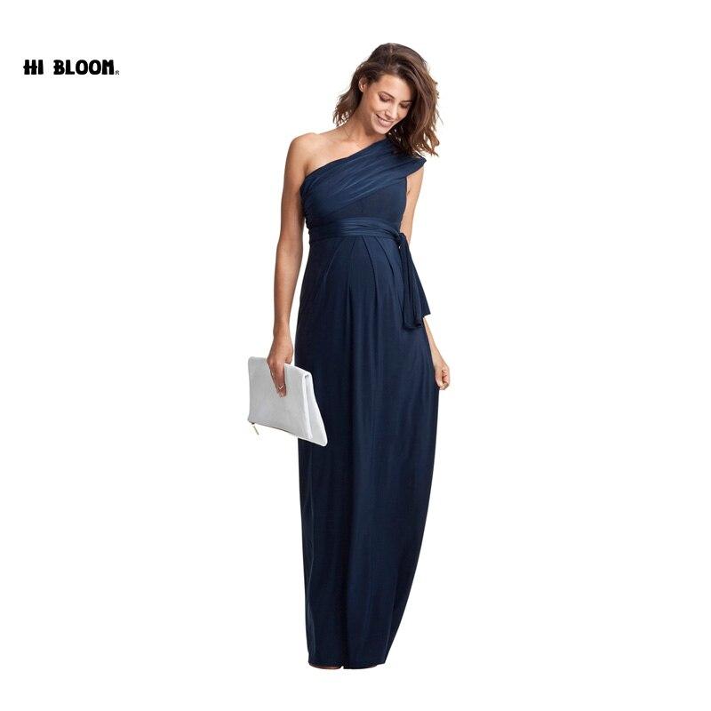 Długie sukienki Maxi ciążowe odzież ciążowa elegancki wieczór sukienka dla kobiet w ciąży ciąża suknia urząd Lady Party Vestidos w Suknie od Matka i dzieci na AliExpress - 11.11_Double 11Singles' Day 1
