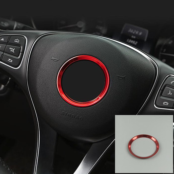 Steering Wheel Ring Decoration Cover Trim For Mercedes Benz GLK GLA CLA GLC GLE A C E Class Aluminum Alloy Car Accessories image