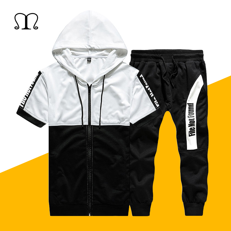 Mutter & Kinder Männer Marke Fitness Anzüge Sommer 2 Pc 2019 Hülsen-track-sportmode Top Short Set Herren Stehen Kragen Mode 2 Stück Tank Top Shorts Trainingsanzug