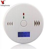 LCD CO Carbon Monoxide Poisoning Sensor Monitor Alarm Detector White