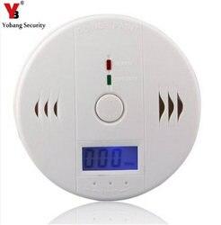 YobangSecurity LCD CO Carbon Monoxide Poisoning Sensor Monitor Alarm Detector White