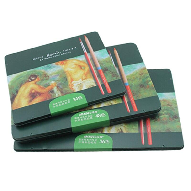 24 36 48 72 Art fournitures crayons de couleur ensemble papeterie pour fournitures scolaires couleurs crayon artiste crayons pour dessin