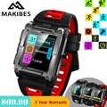 Международная версия В наличии Makibes G08 gps Bluetooth smart watch IP68 Водонепроницаемый сердечного ритма smart watch es Мужская Мульти-Спорт